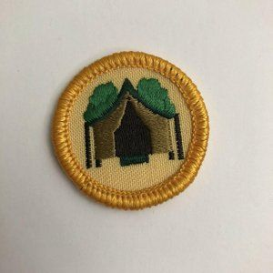 Girls Scouts Patch 1990s Girls Camping Tent